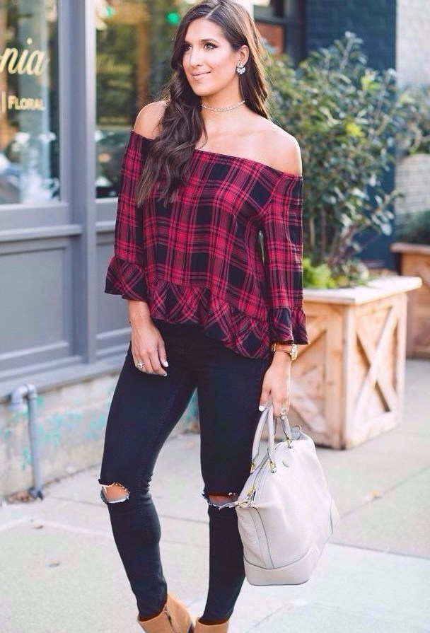 plaid-off-the-shoulder-top-2