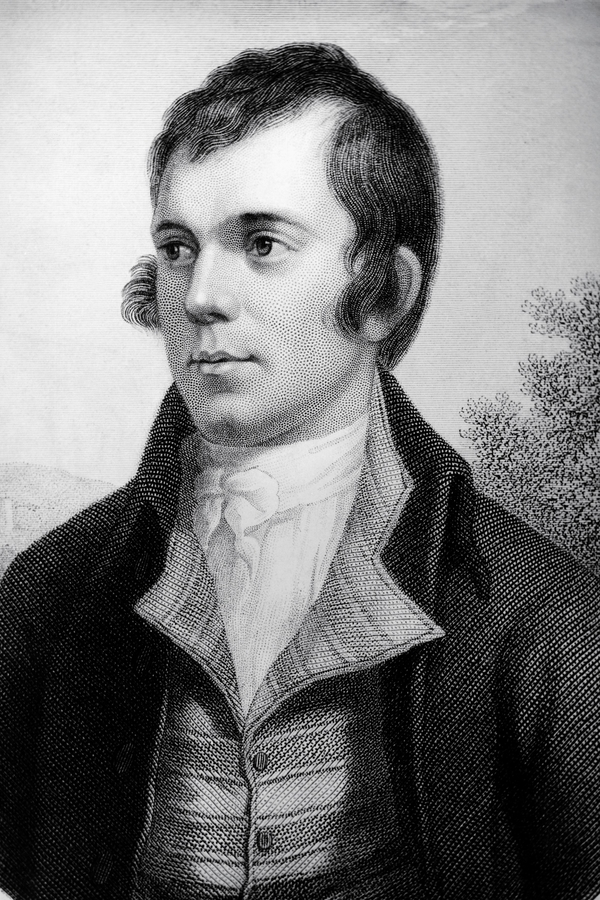 Robert Burns: portrait of Robert Burns as a young man