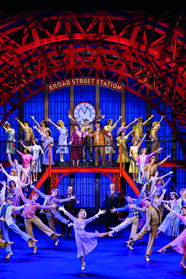 An image of the 42nd Street musical. A scene at broad street station performed at the theatre royal in the west end