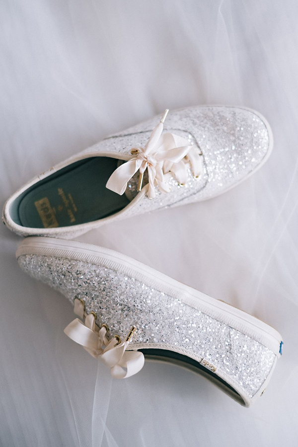 Keds x Kate of Spade -Glitter, Lace-up, flat Bridal Shoe Design from collaboration​ - Pinterest