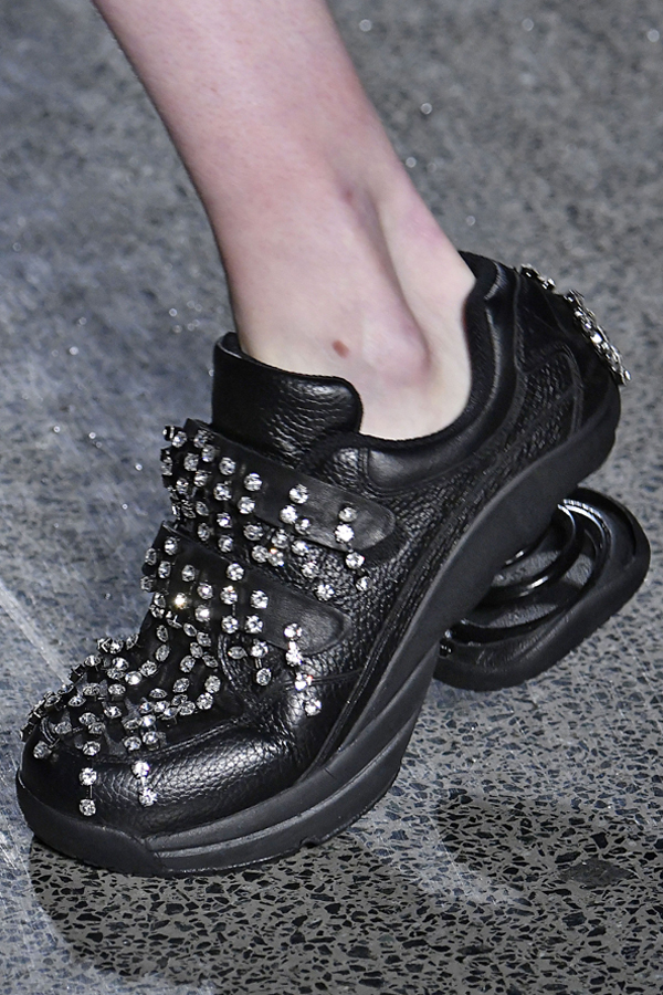 Christopher Kane x Z-Coil - Christopher Kane RTW Fall 2018 - Black Orthopaedic Shoes embellished with crystals - Refinery 29 UK